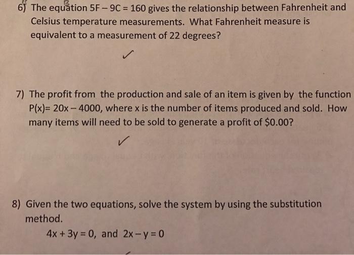 Writing Linear Equations Quiz