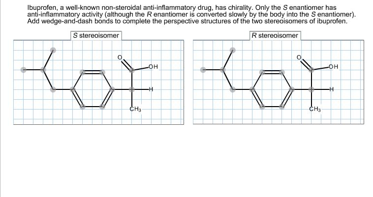 ibuprofen a well-known non-steroidal anti-inflammatory drug has chirality