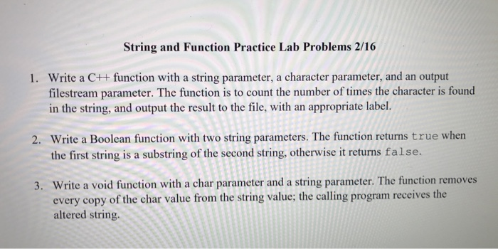 Strings and String Manipulation in C++
