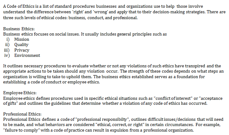 Examples Of Ethics Program Pictures to Pin PinsDaddy – Code of Conduct Example
