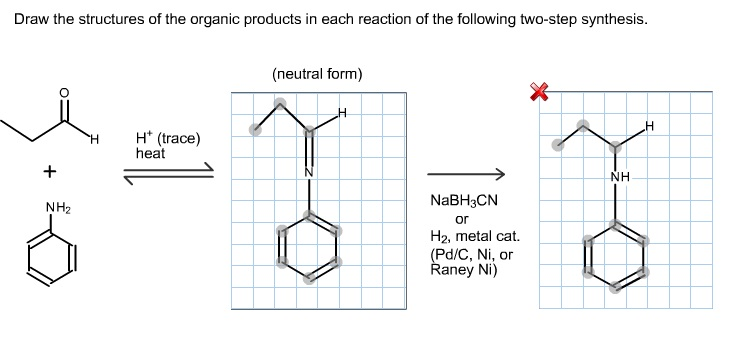 draw the intermediate and the final organic product of the following reaction.