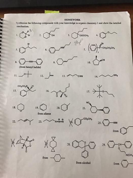 Homework Help Organic Chemistry - Solved: Organic Chemistry