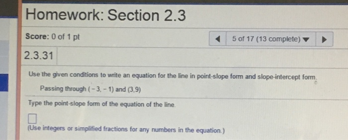 Use the given conditions to write an equation for the line in slope-intercept form calculator