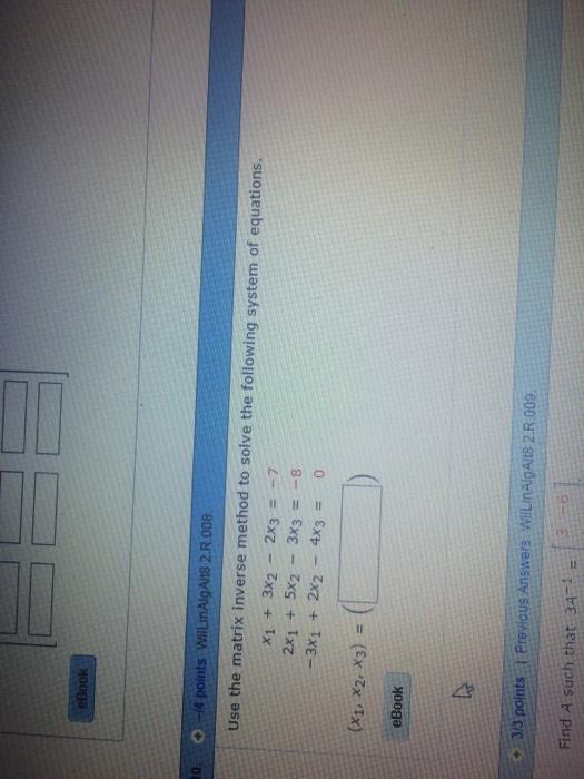 matrix 3x3 homework help