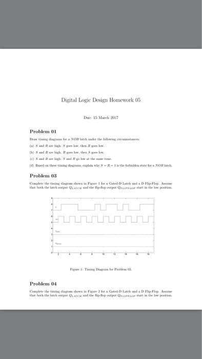 digital logic design homework 05 due  13 march 201