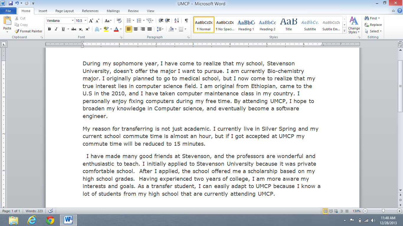 Transferring knowledge essay