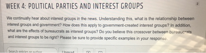 interest groups and political parties relationship test