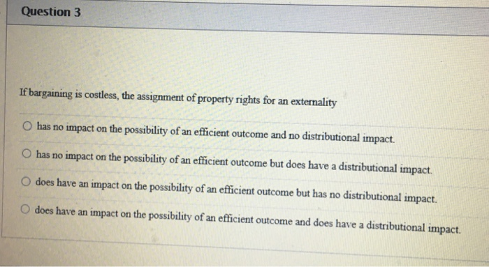 Assignment of property rights