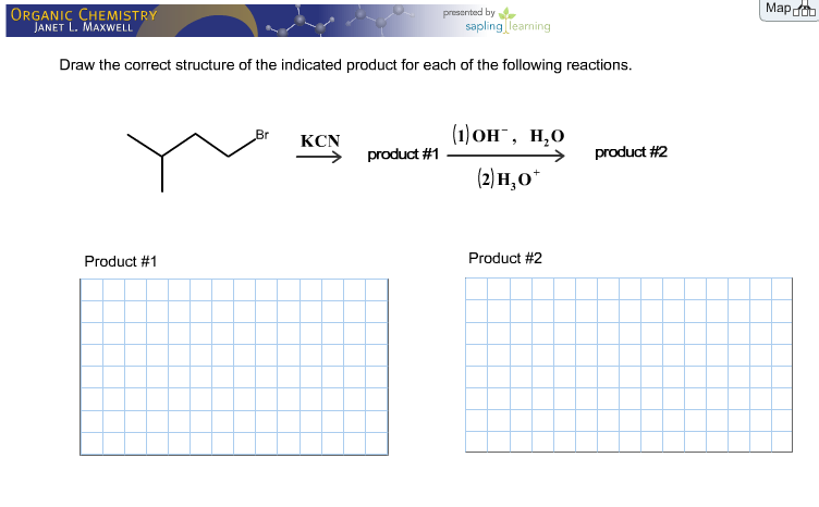 Scribble Drawing Questions : Draw the correct structure of indicated product