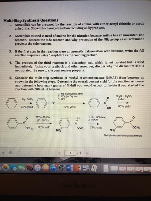 Bromination of benzene