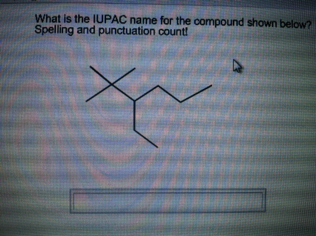 What Is The IUPAC Name For The Compound Shown Below