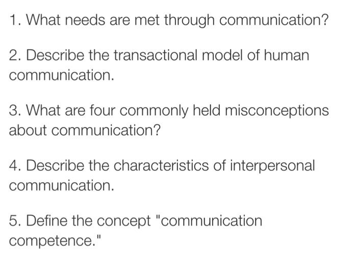 Three characteristics of dyadic communication