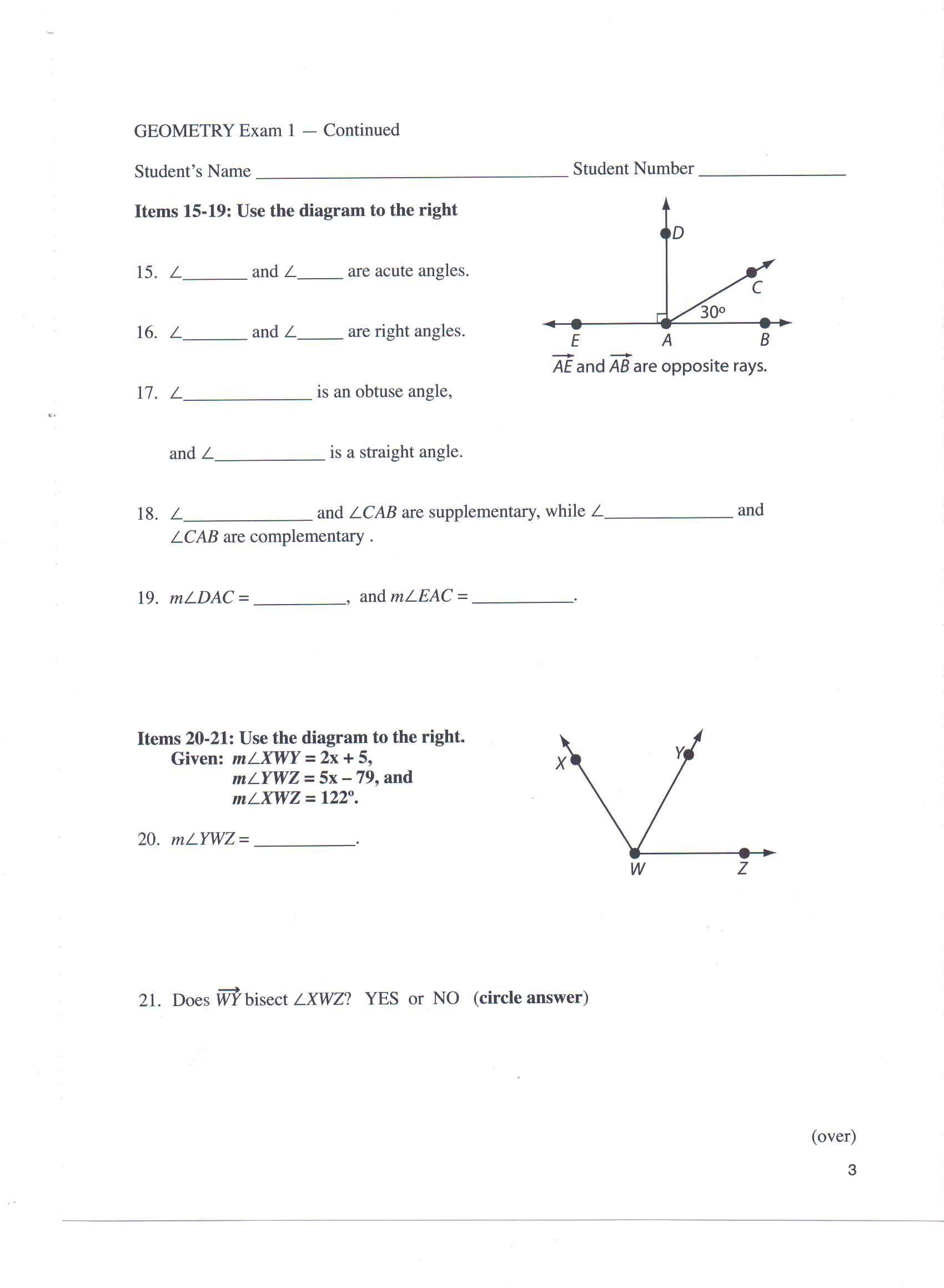 Angle homework help