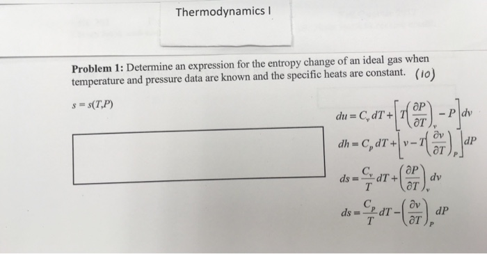 Thermodynamics entropy and suggested reading problems