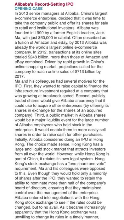 Alibaba case study solution
