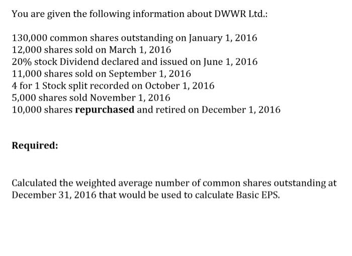Reverse Stock Splits