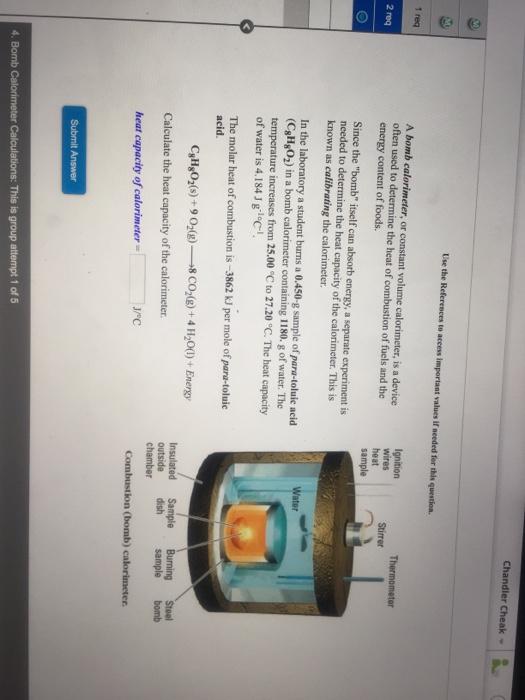 Best calorimeter