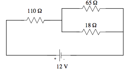 for the circuit shown  find the current through