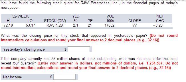 Finance calculations homework help