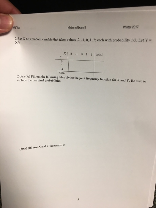 Probability and statistics midterm