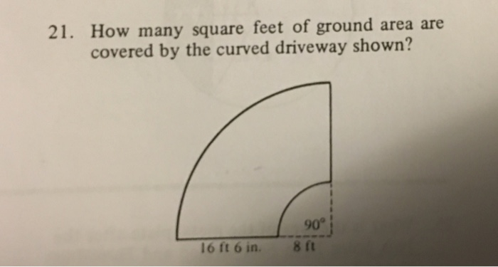 Solved 21 how many square feet of ground area are covere for How to add square feet