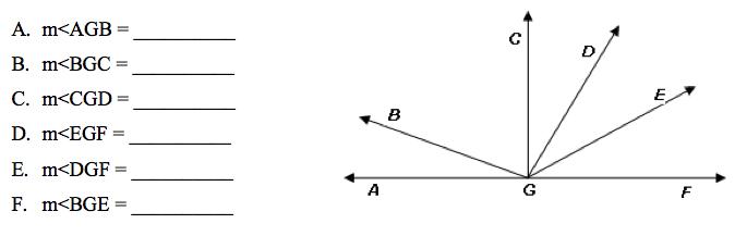 Angle Cgf Is A Right Angle Measure Of Angle Dge