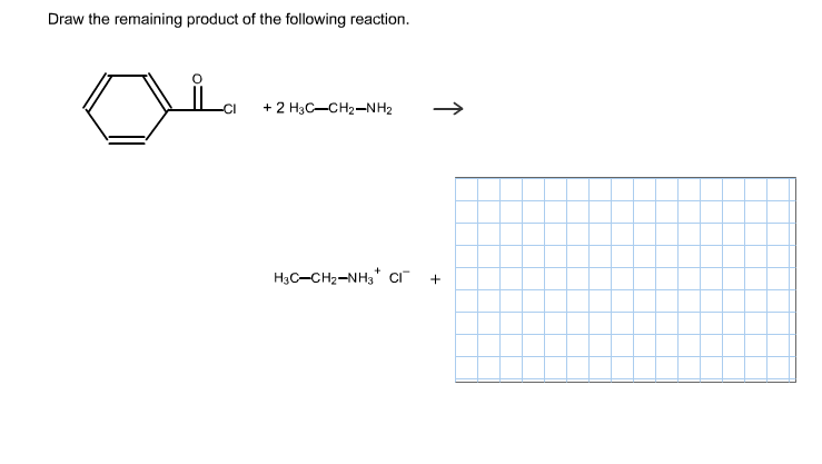 Scribble Drawing Questions : Draw the remaining product of following reaction