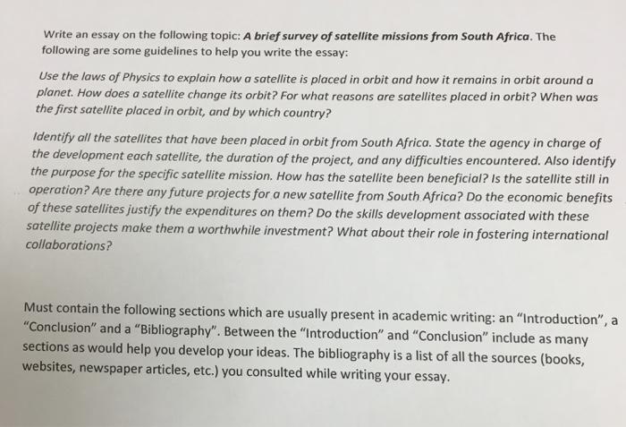 Brief essay