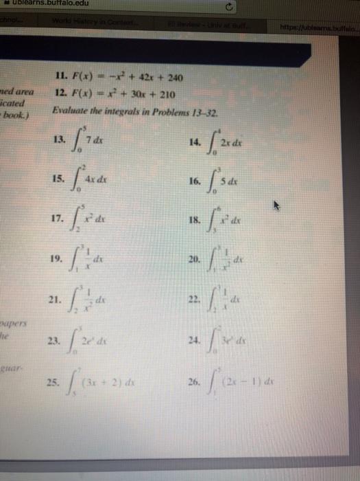 Solved: Ublearns buffalo edu Htt 11  F(a)- +42 + 240 Ed Ar