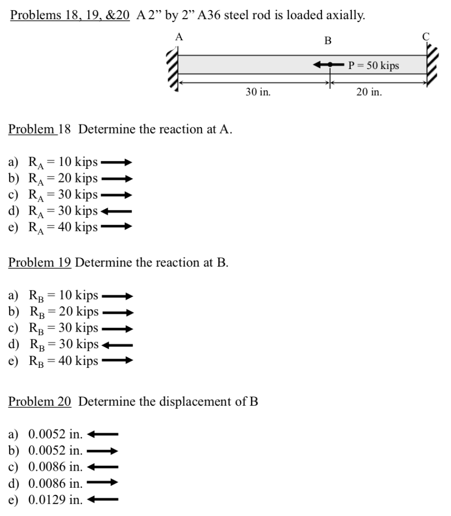 Solved: Problems 18,19,&20 A 2