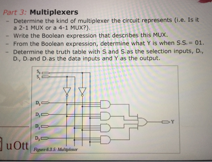 Solved: Part 3: Multiplexers - Determine The Kind Of Multi