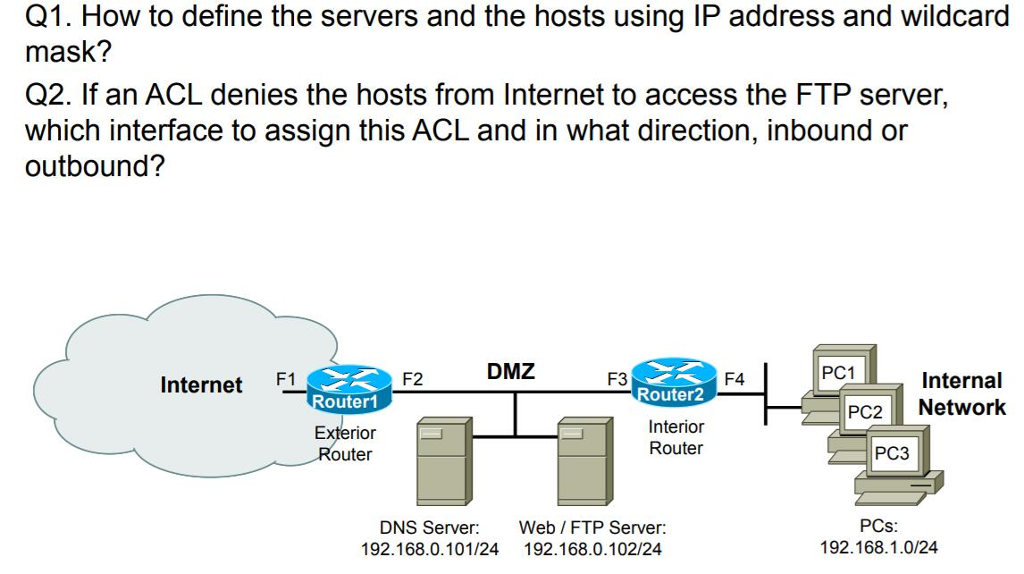 Solved: Q1  How To Define The Servers And The Hosts Using