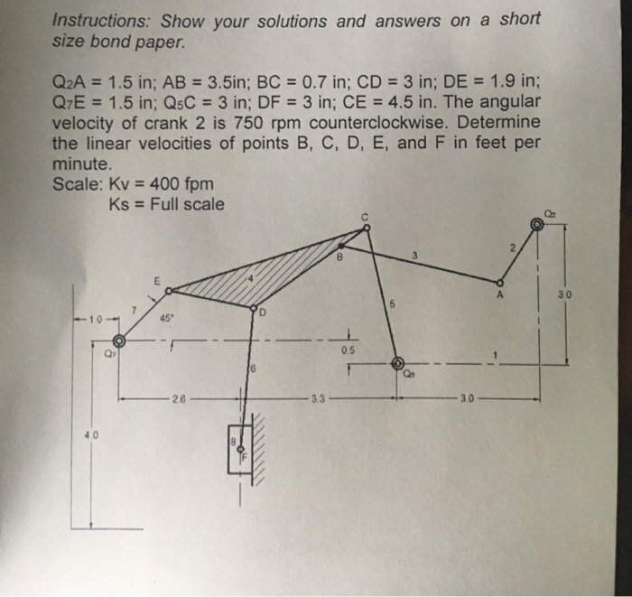 Instructions Show Your Solutions And Answers On A Chegg