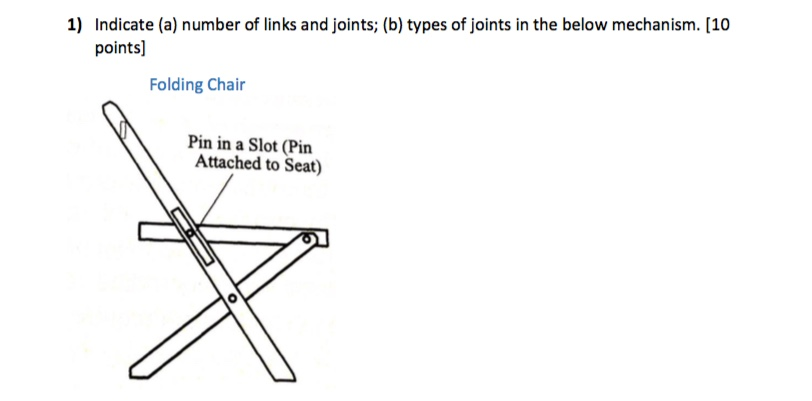 Solved 1 Indicate A Number Of Links And Joints B Ty