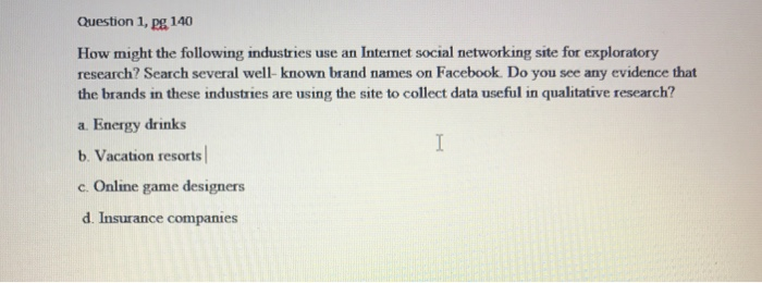 Solved: How Might The Following Industries Use An Internet