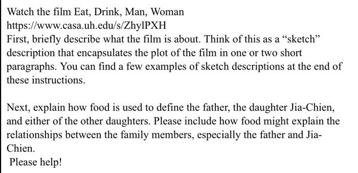 Watch The Film Eat, Drink, Man, Woman Https://www