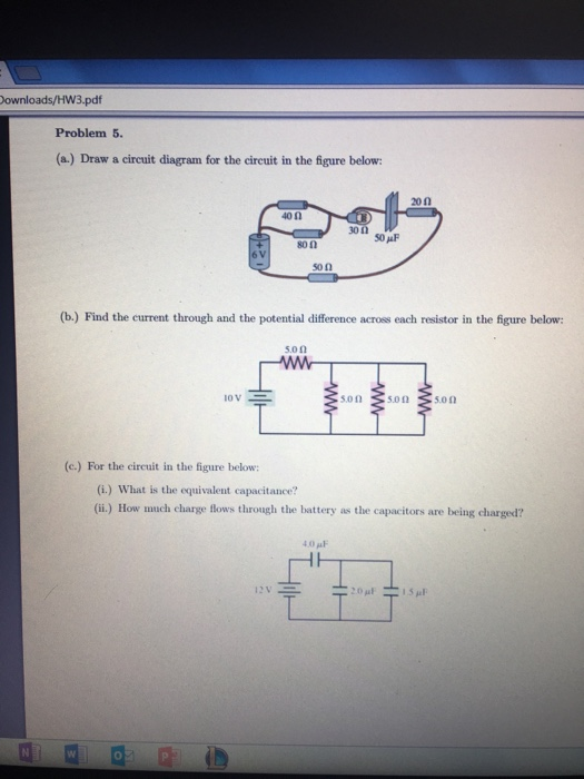 solved a draw a circuit diagram for the circuit in the rh chegg com