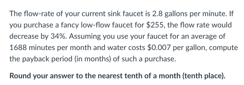 The Flow Rate Of Your Cur Sink Faucet Is 2 8 Gallons Per Minute If