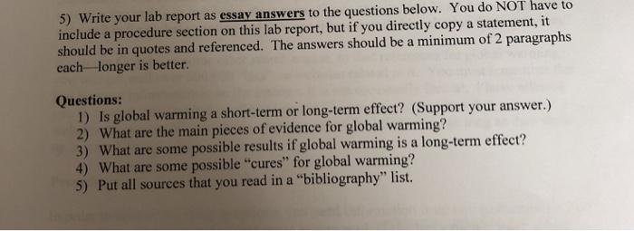 lab report essay