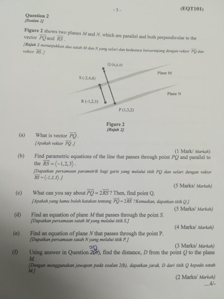 eqt101 question 2 soalan 2 figure 2 shows two pl chegg com