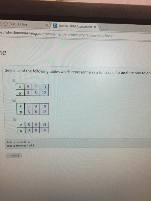 Test 3 Online S Ohm Lumenlearning
