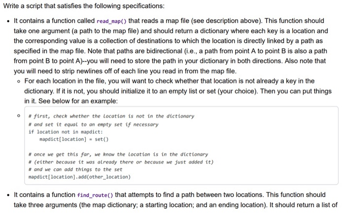 Solved: Python Write A Script That Builds A Map From A Fil ... on