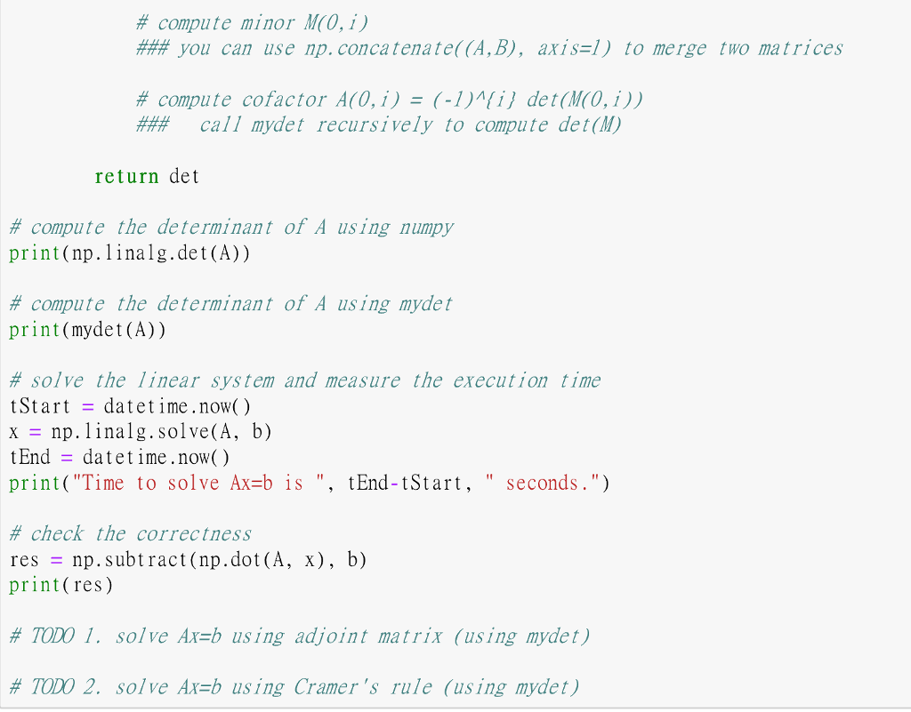 Use Python To Answer The Question By The Unfinishe    | Chegg com