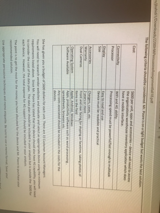 Solved: Loads/2200HWPersuasiveAssignmentfall 18 pdf Hardwa