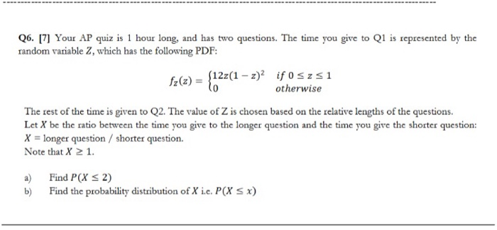 Solved: 06  17] Your AP Quiz Is 1 Hour Long, And Has Two Q