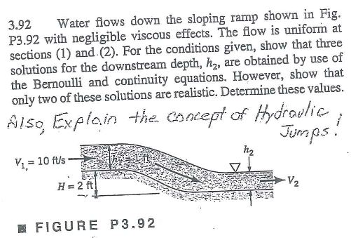 Solved: Mechanical Engineering - Fluid Mechanics: Assume