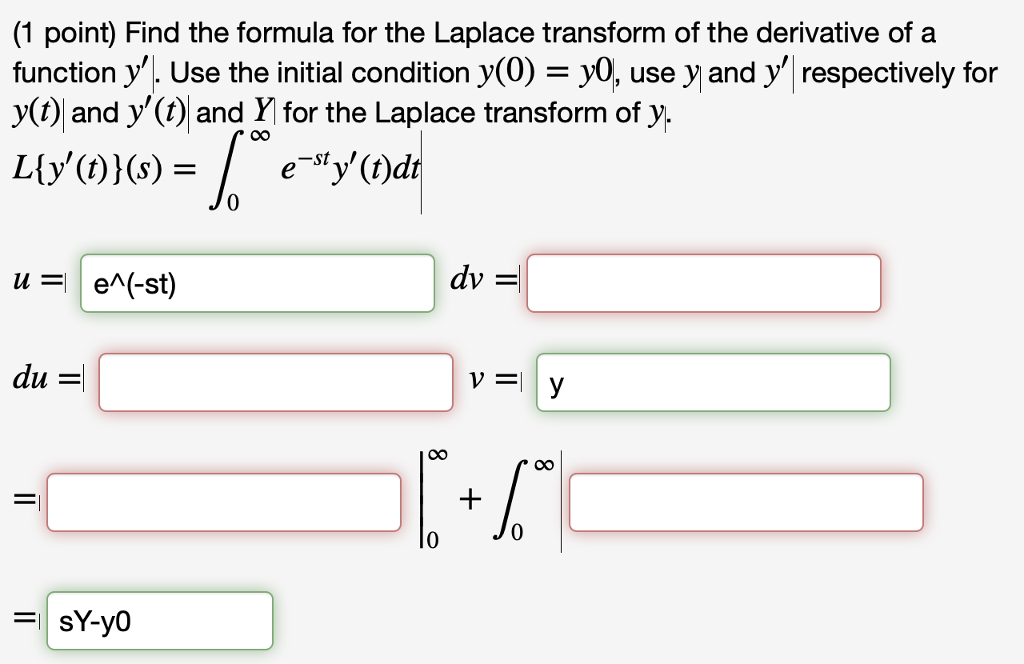 Solved Find The Formula For The Laplace Transform Of The Chegg Com Explore math with our beautiful, free online graphing calculator. the formula for the laplace transform