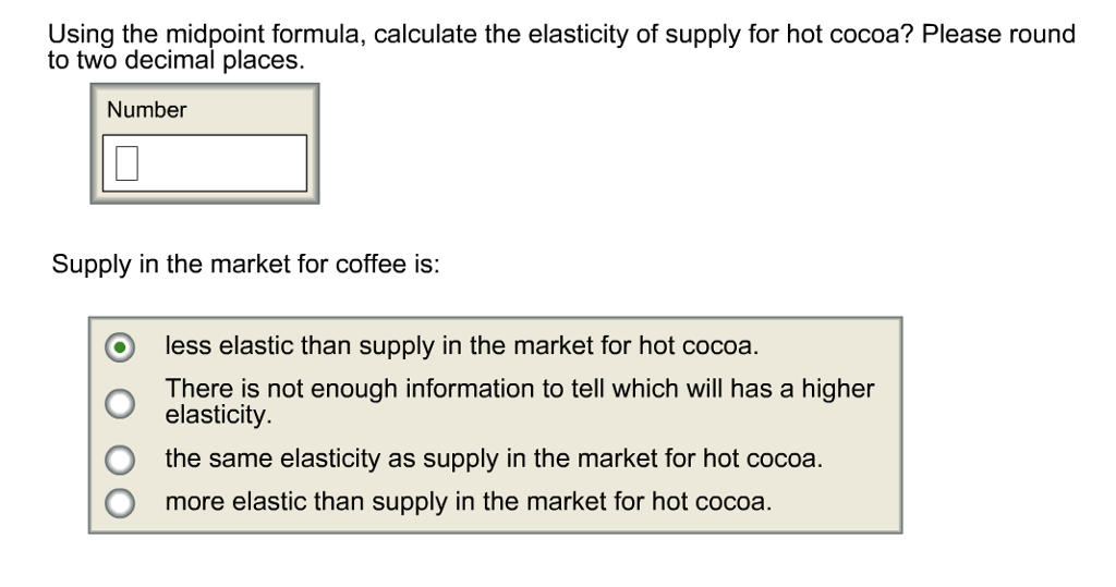 elasticity of supply formula