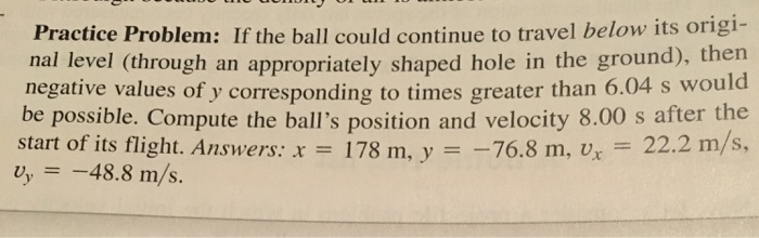 If The Ball Could Continue To Travel Below Its Ori ...