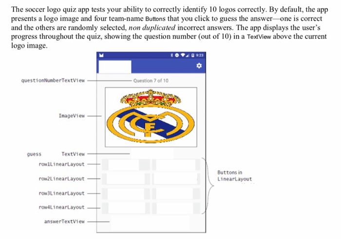 The Soccer Logo Quiz App Tests Your Ability To Cor    | Chegg com